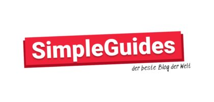 Simple Guides Logo in rot 1